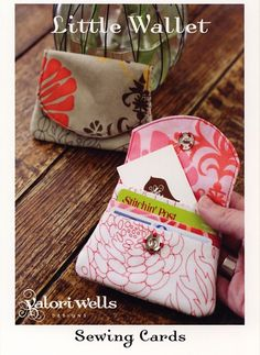 Little Wallet Sewing Card I have this pattern! I love it!!