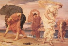Lord Frederick Leighton: Greek Girls Picking up Pebbles by the Sea lord leighton, pebbl, seas, girl pick, art, frederick leighton, freder leighton, lord frederick, greek girl