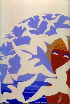 Seagulls  Harper's Bazaar Cover Design,   July 1938,