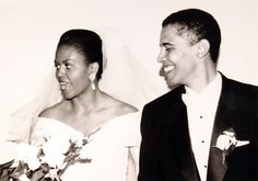 Happy 20th anniversary, Barack. Thank you for being an incredible partner, friend, and father every day. I love you! –mo