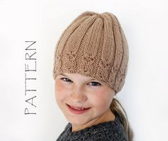 """This is a Knitted Hat Pattern only, not the actual Hat! The pattern contains detailed written instructions how to knit this hat    Gauge: 19 sts = 4"""""""