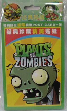 Wholesale Plants VS Zombies Sticker  Anime Merchandise