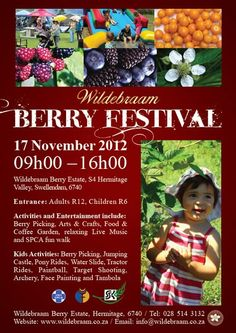 Visit the anual Wildebraam Berry picking Festival, Swellendam, South Africa