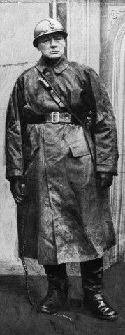 Mr. Winston Churchill photographed in 1916 during the First World War. He served as a major with the Grenadiers and later commanded the 6th Battalion Royal Scots Fusiliers.