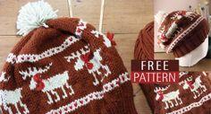 ResQCrafts: Moose Fair Isle Hat - Free Knitting Pattern  Love this :)