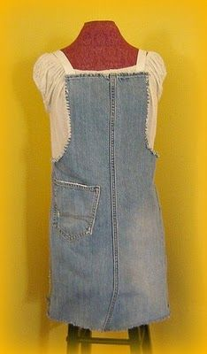 denim apron out of jeans, I need one of these!