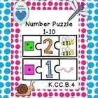 Help your students practice number identification and one-to-one correspondence with this fun math puzzle from Autism Adventures. Three piece puzzles for numbers 1-10 are included.