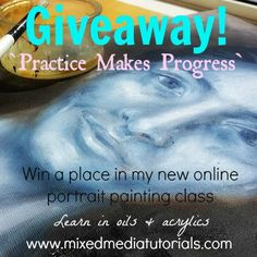 Giveaway - online art class portraits