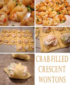 Crab  Cream Cheese Crescent Rollssuper easy appetizer!