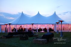 We'll rent a few party tents just in case the weather doesn't cooperate!