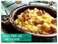 Delcious Cheesy Potato and Ham casserole made in your slow cooker! Ham Casserol, Cheesy Potatoes, Recipes With Ham, Cheesi Potato, Recipe With Ham, Potato Casserol