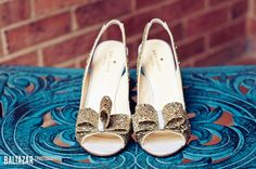 cute kate spade gold shoes with a bow