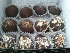 Assorted Chocolate Truffles.