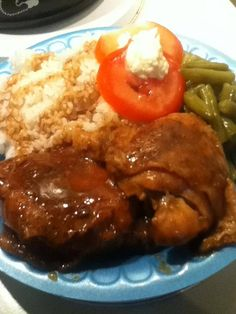 T's Baked Chicken with Brown Gravy