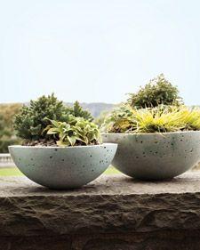 homemade pots - hypertufa - must try!