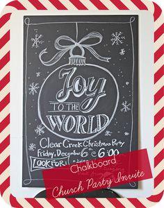 Chalkboard Ideas-- JOY to the WORLD