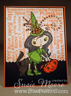 The Dies Have It: #Halloween Fun - #Stampendous New Images - http://www.stampendous.com/product/0/CRP175-R/_/Cling_Kitty_Candy_Kiddo