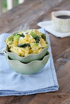 Avocado, Spinach, and Chèvre Scramble - Against All Grain