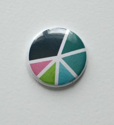 Colorful Pie Flair Button by Two Peas @2peasinabucket
