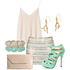 """Sea Breeze Summer Night Outfit"" by natihasi on Polyvore"