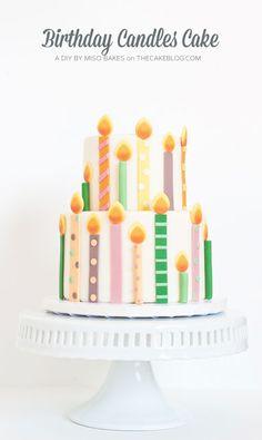 DIY Birthday Candles Cake | by Miso Bakes  |  TheCakeBlog.com