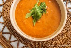 Slow Cooker Creamy Chipotle Tomato Soup for just 162 calories and 4 PointsPlus per 1.5 cups - made with cream cheese and chiptole peppers