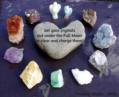 Full moon crystals clearing.