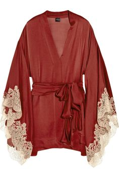 Carine Gilson|Thème Céres silk-satin kimono|NET-A-PORTER.COM