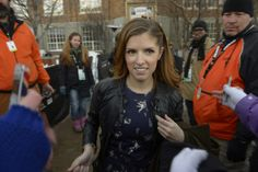 Anna Kendrick takes time to pose for photos with fans at the Sundance Film Festival. (Rick Egan | The Salt Lake Tribune)