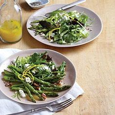 Skillet Asparagus Salad with Goat Cheese | MyRecipes.com #myplate #vegetables #dairy