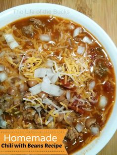 Homemade Chili with Beans Recipe