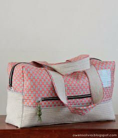 owen's olivia: Cargo Duffle || Crafty Traveler Series