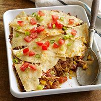Chicken Chilaquiles Casserole - one of my all time favorites!! - Fitness Magazine