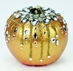 Nicole™ Crafts Rhinestone Pumpkin by Gail Colladay #halloween #craft #pumpkin #pumpkindecorating