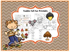 Toddler Fall Fun Printable from Preschool Printables on TeachersNotebook.com -  (23 pages)  - Printable: The activities in this pack are designed to have fun while the child learns a variety of preschool concepts including number, color, letters and more.