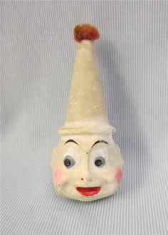 "13"" Antique PALMER COX BROWNIE c1910 Hand-Puppet CLOWN Compo Head on Cloth https://www.facebook.com/pages/DK-Vintage-Holiday-Dolores-Koper/434496043264022"