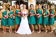 The ONE Dress multi wrap infinity wear convertible bridesmaids dress wear me again wedding  gown. teal wrap dress #weddings