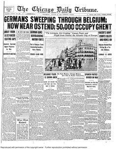 Aug. 22, 1914: Germans sweep through Belgium.