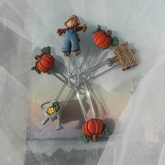 Pumpkin Patch Paperclips Bookmarks by beautifulswagstore on Etsy, $6.80