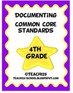 Documenting Common Core Standards - 4th Grade   $5