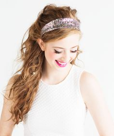 all dolled up with our big shot sparkle headband