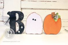 BOO!!! Halloween Wood Craft Project pebblesinmypocket.com