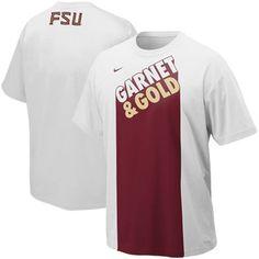 Nike Florida State Seminoles (FSU) Garnet & Gold School Colors T-Shirt - White