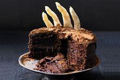 cake hand, cupcak, halloween idea, cake recip, zombie cakes
