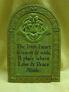 The Irish heart...