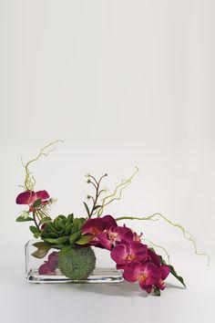 Tropical Orchid Cactus Vase