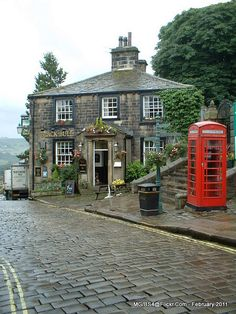 Haworth Village, West Yorkshire, England