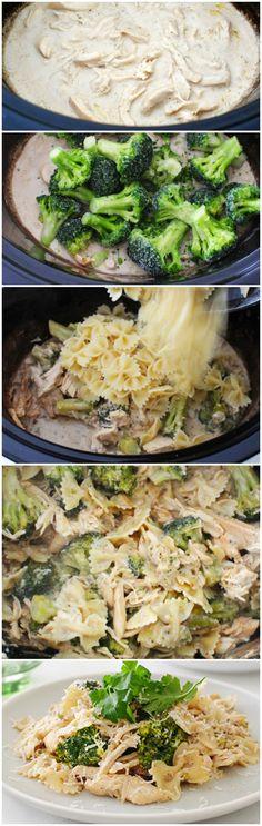 #SlowCooker Chicken Broccoli Alfredo