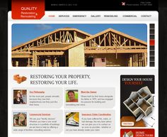Restore IN - Indiana-based home restoration company specializing in element damage; Flash banner, link- and graphic-intensive, tables, contact form
