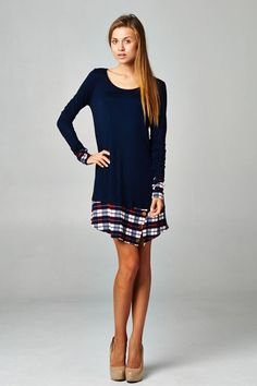 Plaid Print Tunic Dress from Gypsy Outfitters